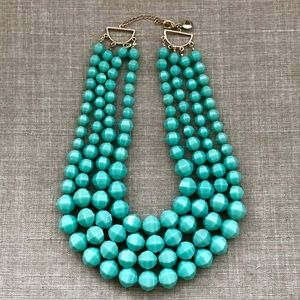 NWOT J.Crew Turquoise Beaded MultiLayered Necklace